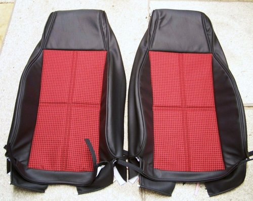 82 92 Camaro Highback Seat Covers Red Black Houndstooth